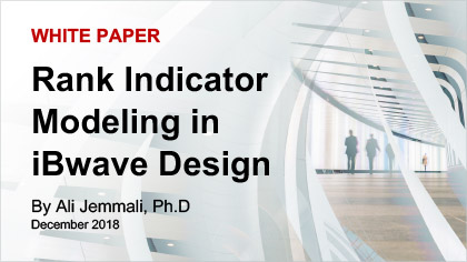 White Paper - Rank Indicator Modeling in iBwave Design