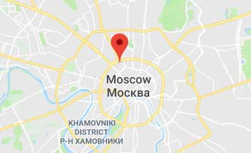 Map of Russia Moscow office