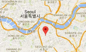 Map of South Korea Seoul office