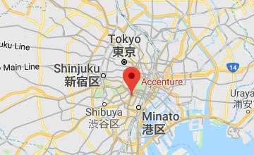 Map of Japan Tokyo office
