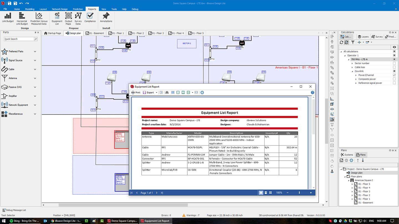 iBwave Design Lite: in-building wireless network design: iBwave