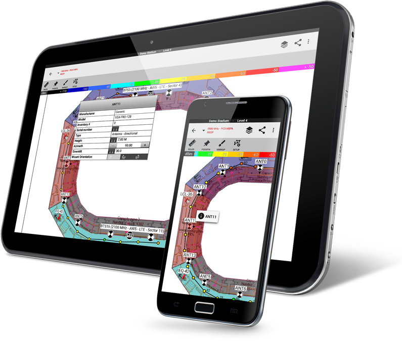 Site survey app to enable fast constructible designs ibwave ibwave mobile note fandeluxe Choice Image
