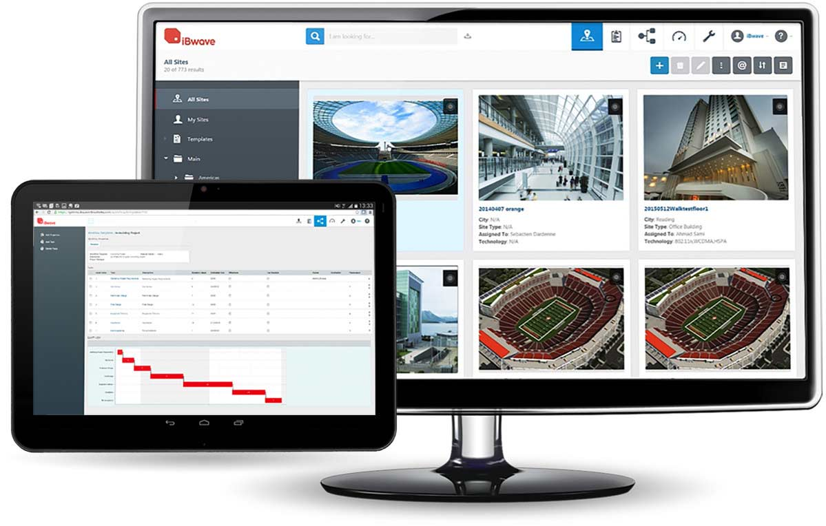 iBwave Unity - Manage indoor wireless network sites and projects