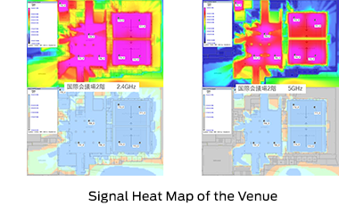 Signal Heat Map of the Venue