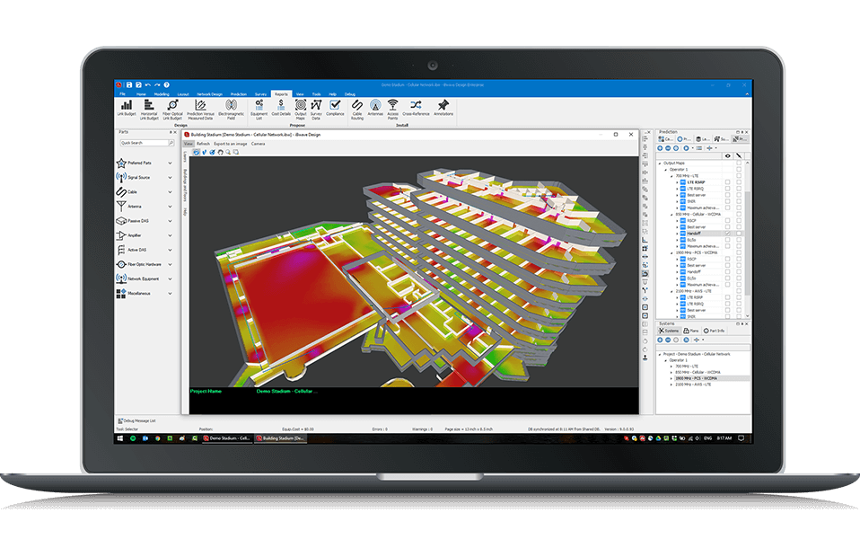 3D planning & network design solution with iBwave Wi-Fi