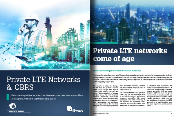 Download eBook on Private LTE Networks & CBRS
