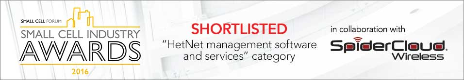 Small Cell Industry Awards 2016 Shortlisted banner